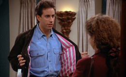 When Jerry tries on a new jacket Elaine sees the price tag and is stunned, Jerry thinks he has a  ballpark idea of the price. Elaine says: