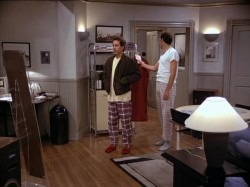 In The Jacket, Kramer asks Jerry how much his new jacket cost, Jerry says,