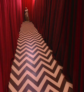 David Lynch had the idea of The Red Room while doing what?