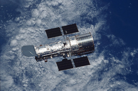 When was the Hubble Space Telescope launched into orbit?