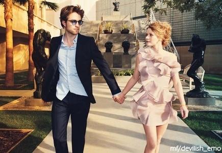 Robert Pattinson with...?