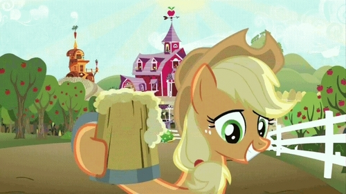 T/F: The cider they drink in MLP FiM is an alcoholic beverage.