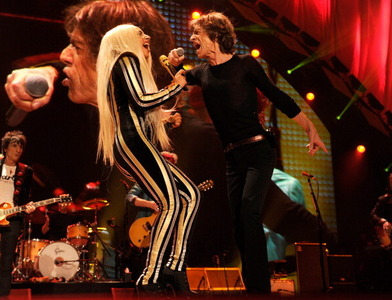 Which song did Lady Gaga perform with The Rolling Stones at their 50 & Counting Tour?