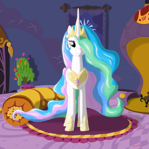 Who voices Celestia?