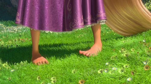 Rapunzel is the ______ 迪士尼 Princess to be barefoot.