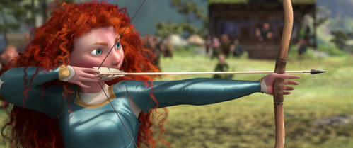 She is the ______ princess to use an actual weapon in her feature film.