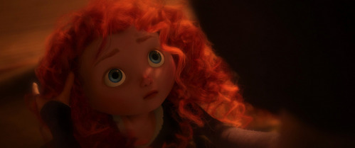 Merida is the _______ princess to be shown physically as a child in her feature film.