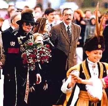 This photograph of Michael was taken while on tour in Warsaw, Poland