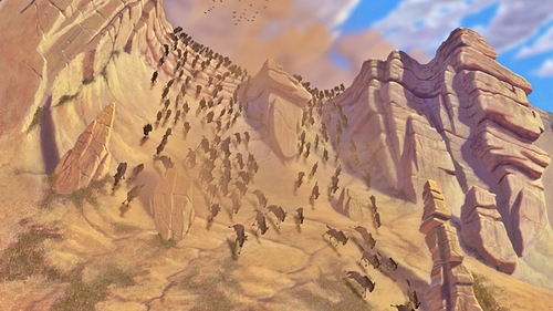 "How long did it take the ডিজনি Animators to animate The Wildebeest Stampede Sequence from ""The Lion King"" (1994)"