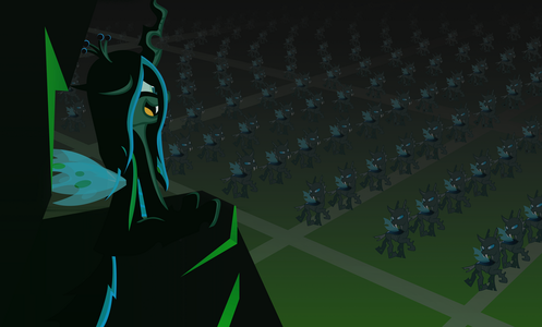 The visual appearance of Chrysalis and the changelings were designed দ্বারা whom?
