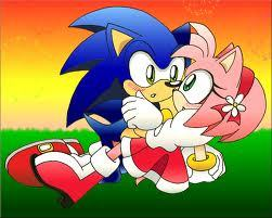 Is there any evidence that Sonic has feelings for Amy?