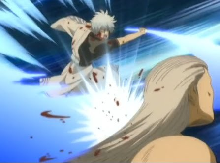 What sword did Gintoki defeated Housen with?