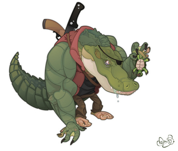 what is the name of the alligator in TMNT