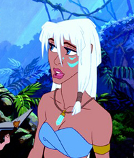 Who is the girl that Milo befriends when the explorers get to Atlantis?