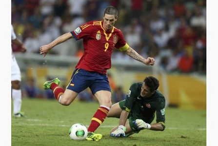 whom did torres pip to get the golden boot in confederations cup 2013