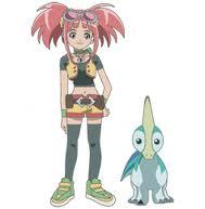 Who does zoe love in dinosaur king