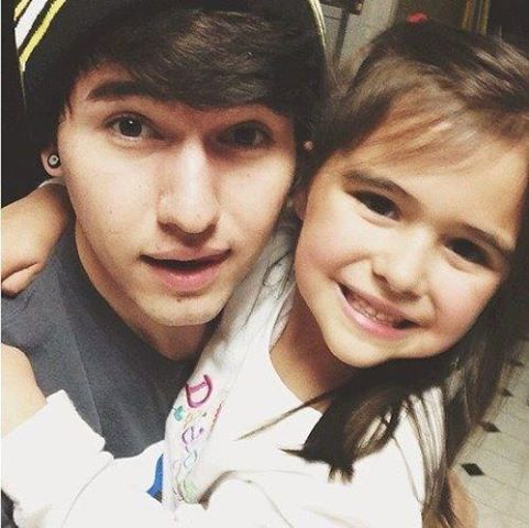 What are Jc's little sister's names?