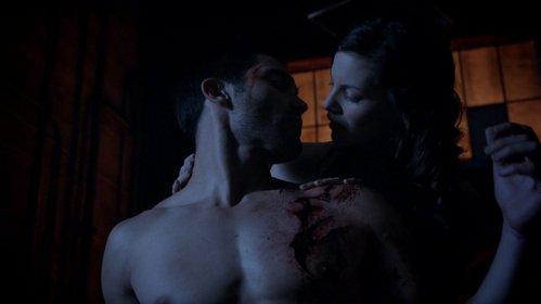 Did Derek's प्यार scene with Miss Blake heal him?
