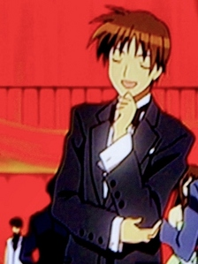 Who does Yuichi dance with at the ball?