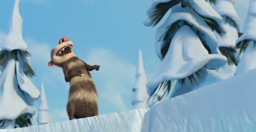 What did Eddie do in this part of Ice Age 3 to make his brother laugh?
