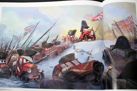 This picture is a cars version of which famous British battle?