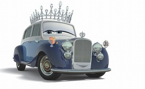 This car is the Queen of great Britain. In real life what is the name of this British queen?