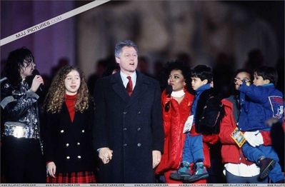 Michael was in attendance at Bill Clinton's pre-inauguration ceremony back in 1993