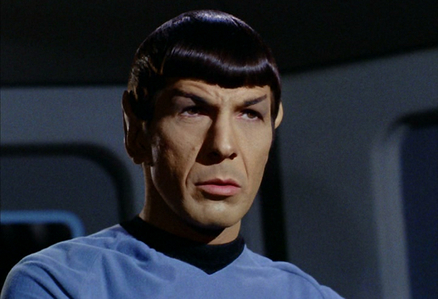 Which colour is Spock's blood?