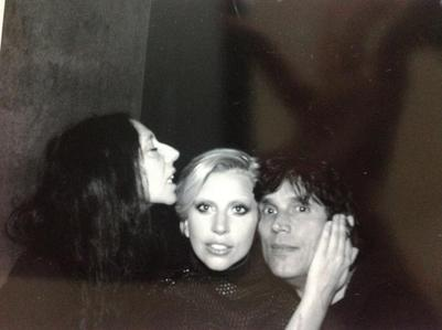 This photo of Lady Gaga with Inez and Vinnodh was taken on the set of...