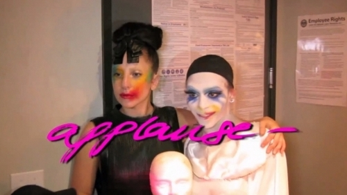 What's the name of the gay club where Lady Gaga filmed the 'Applause' lyric video?
