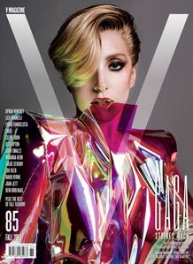 In this cover Lady Gaga is wearing a custom made outfit by...