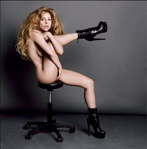 Which part of Lady Gaga's interview with V Magazine (V85) does this photo represent?