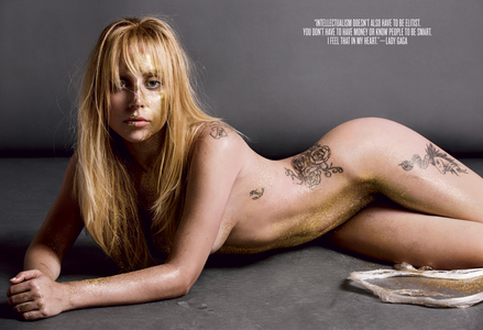 Which part of Lady Gaga's interview with V Magazine (V85) does this фото represent?