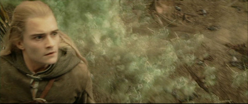 How many arrows, does Legolas shot on Oliphaunt's head?