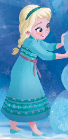 Who voiced young Elsa?