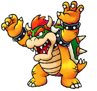 Where can Mario find Bowser in most of the games?