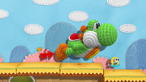 Yarn Yoshi's textile and fabric enviroments are similar to