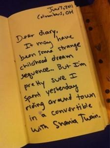 Do Taylor keep a diary?