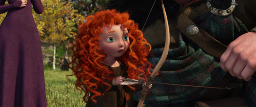 Who gave Merida the bow she is holding in this image?