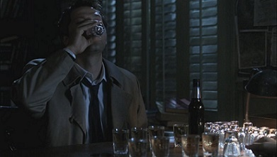 Who's Castiel doing shots with?