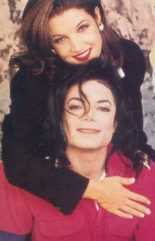 The is official wedding portrait of Michael and Lisa Marie Presley was taken by Dick Zimmerman back in 1994