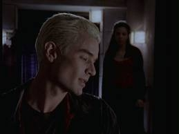 "Who helped Buffy save malaikat from Spike and Drusilla in ""What's My Line?"""