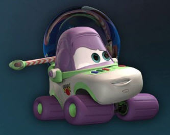 T/F: Buzz Light Car from Cars (2006) is voiced by Tim Allen (the voice actor of Buzz Lightyear in Toy Story).