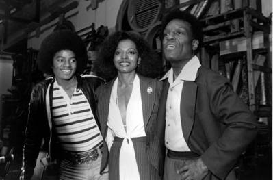 What event was this photograph of Michael, Diana Ross and Nipsy Russell taken