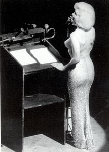 This photograph of Marylin was taken at President Kennedy's 45th birthday party at Madison Square Garden back in 1962