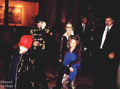 What country was this photograph taken of Michael with Lisa Marie and her daughter, Riley Keough