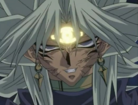 What Egyptian god card turns Marik into the evil psycho