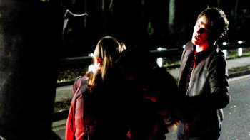"4x16 ""Bring it On"", what did Elena said to Damon after he stopped her form killing the woman?"