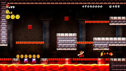 NEW SUPER MARIO BROS Wii - This قلعہ filled with lava pits, has 3 way corridors, of which only 1 is the correct path. Which BOSS is waiting for Mario at the end?