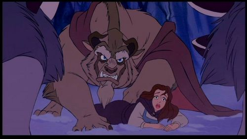 Who is Beast protecting Belle from?